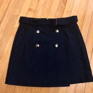 Banana Republic wool mini skirt